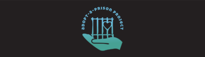 Darn background with adopt-a-prison logo