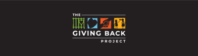 Dark background with Giving Back Project logo