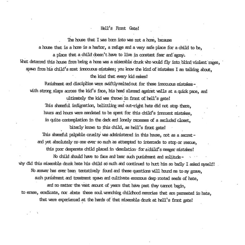 Wesley Purkey's writings, Hell's Front Gate
