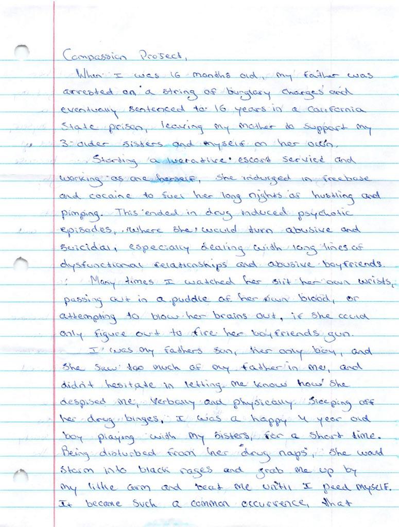 Handwritten letter from Ezra Williams