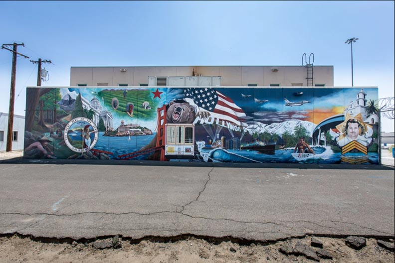 Landscape mural of the USA