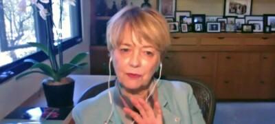 Stephanie Covington talking on Zoom