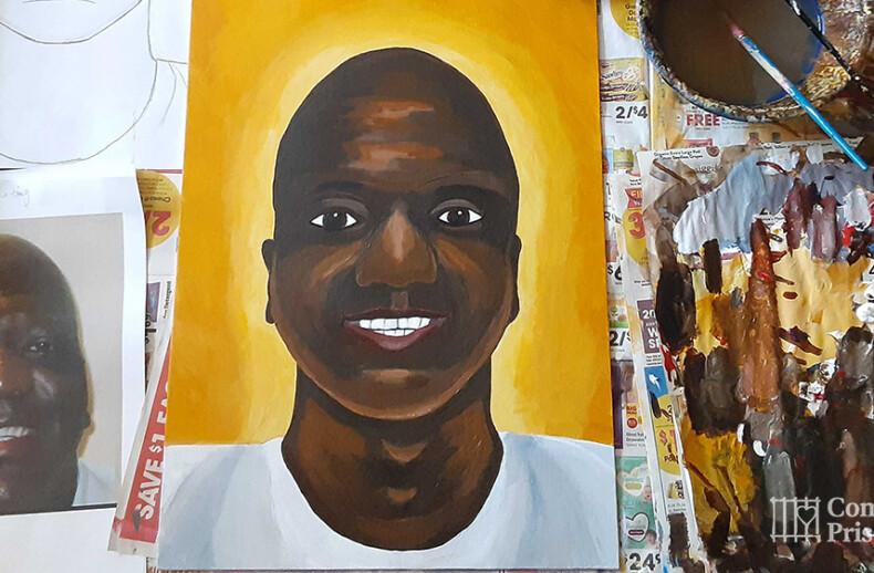 Portrait of Willie. B Smith by artist, Rune Nielsen
